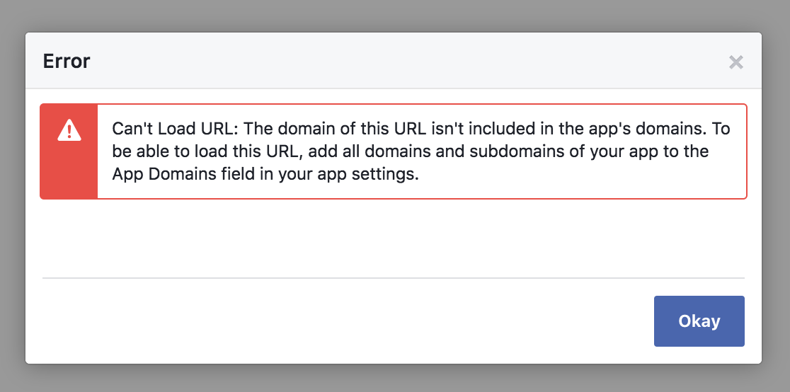 Can't Load URL with Strict Mode for Redirect URIs in FB · Issue #130