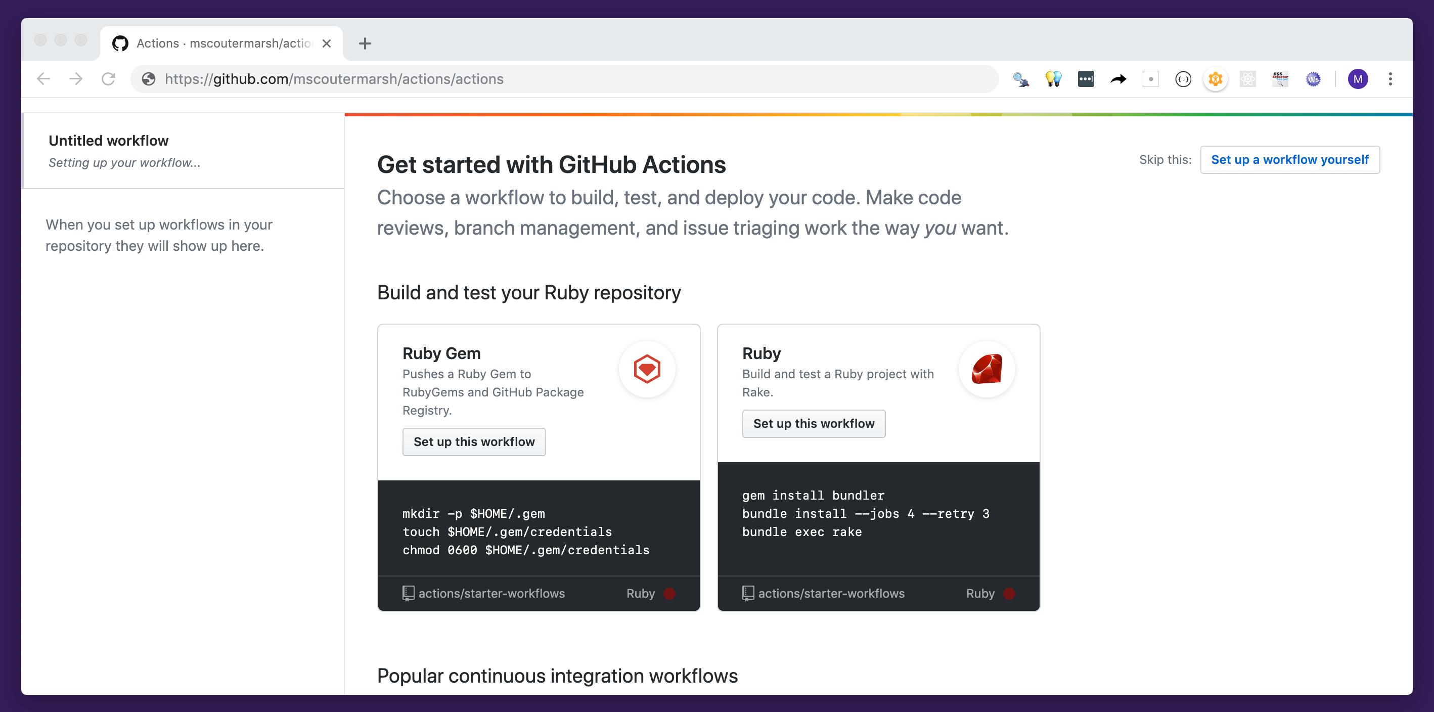 GitHub - actions/starter-workflows: Accelerating new GitHub
