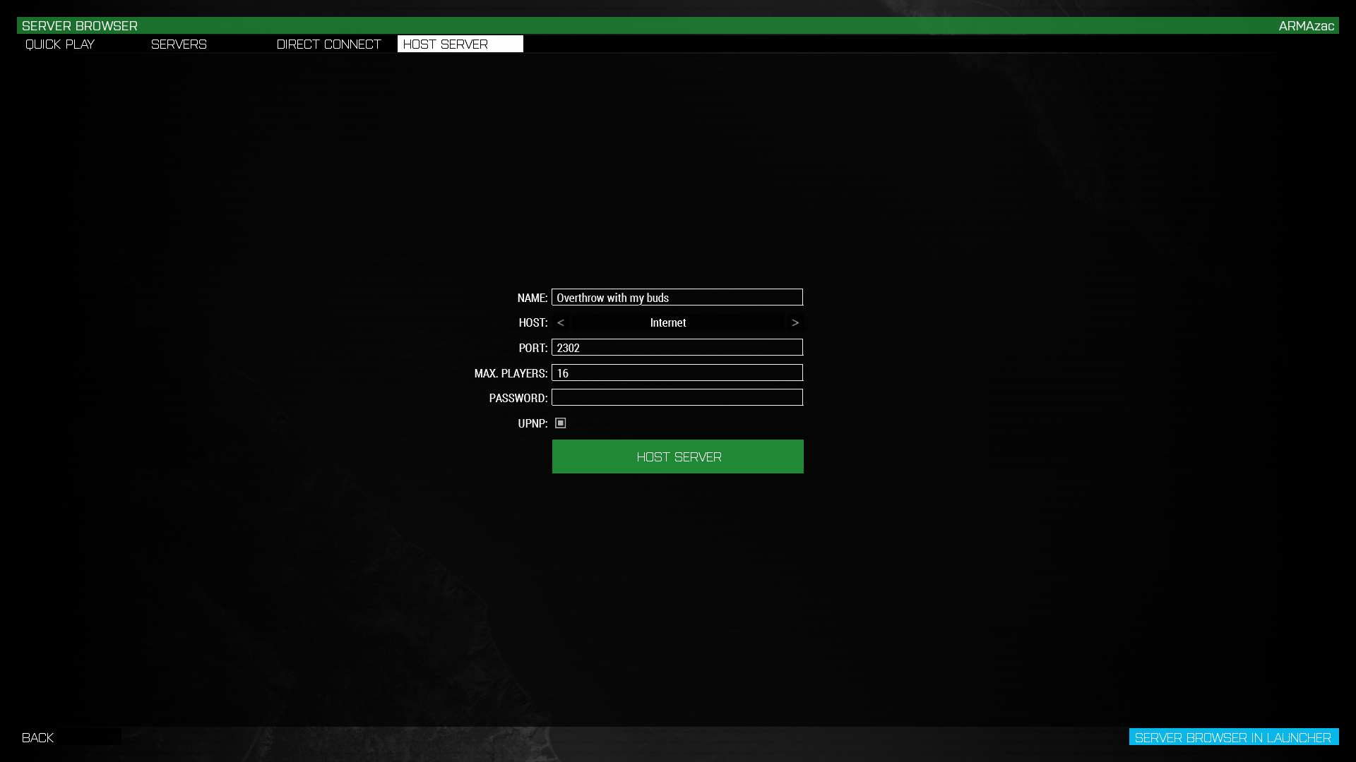 Improved game hosting - ARMA 3 - GENERAL - Bohemia Interactive Forums