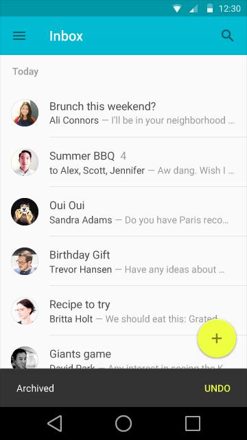 SnackBar Screenshot via Google