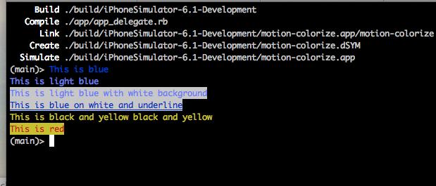 Default colorize