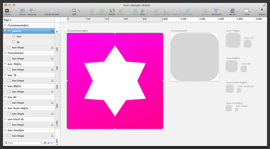 Creating the icon graphics