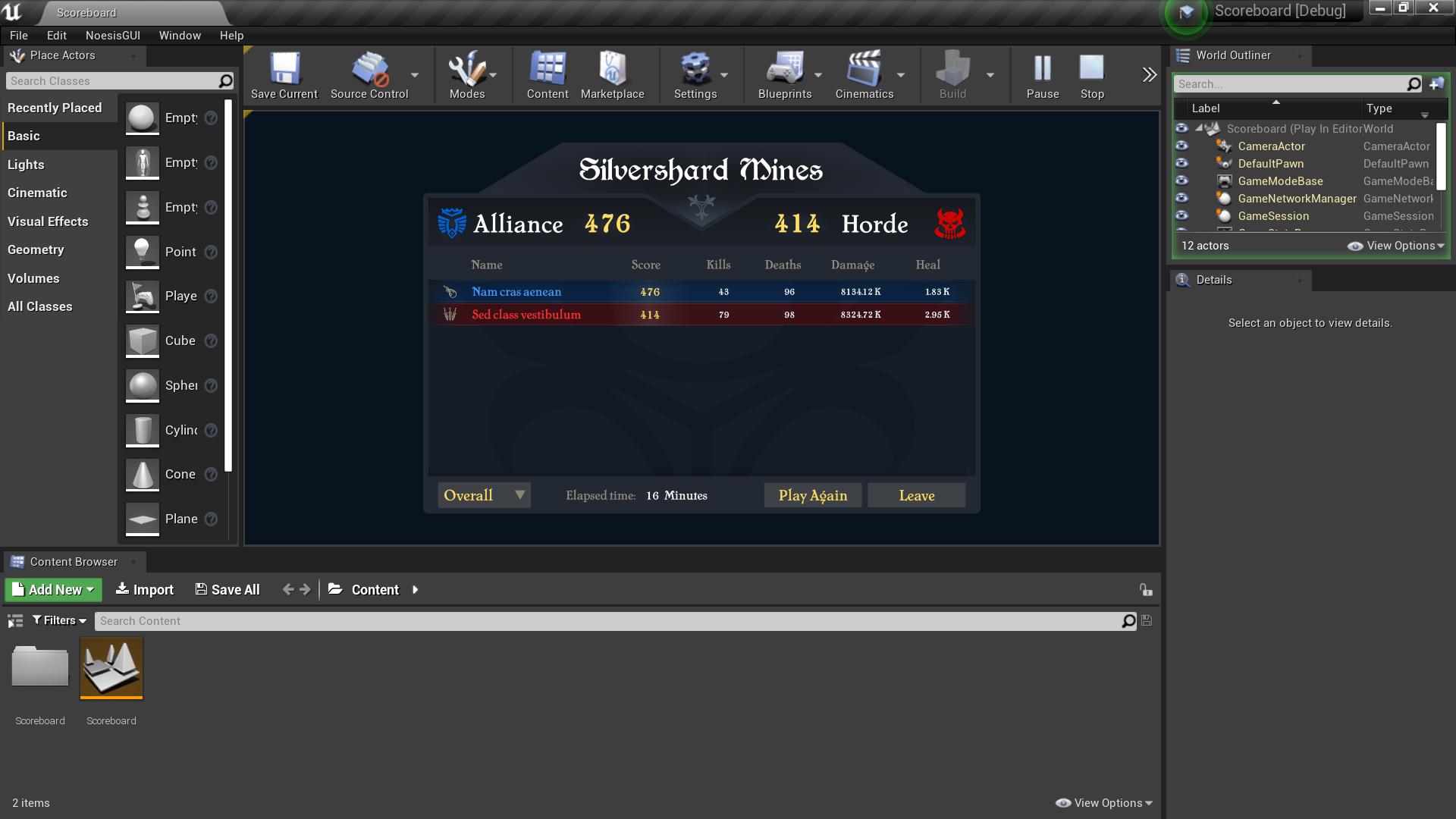 Tutorials/Samples/Scoreboard/UE4 at master · Noesis