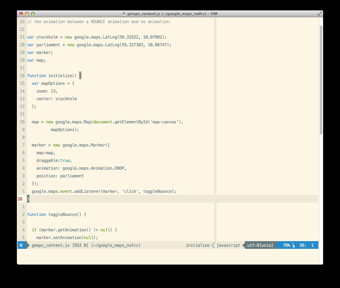 Stock Vim JavaScript syntax file