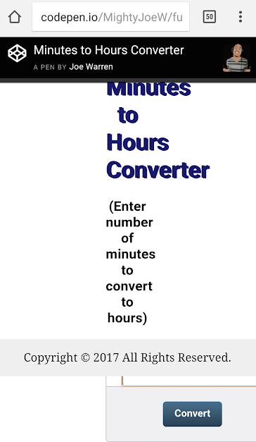 Ugly Minutes Converter