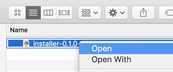 Opening the installer on Mac · ImpactDevelopment