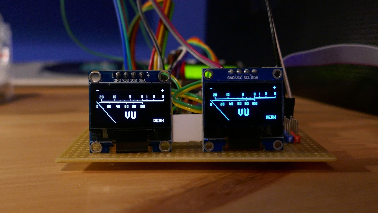 Github Adamples Vu Meter Stereo Using Oled Screens And How To Build 1 Circuit Diagram Building The Project