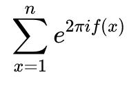 Exponential sum