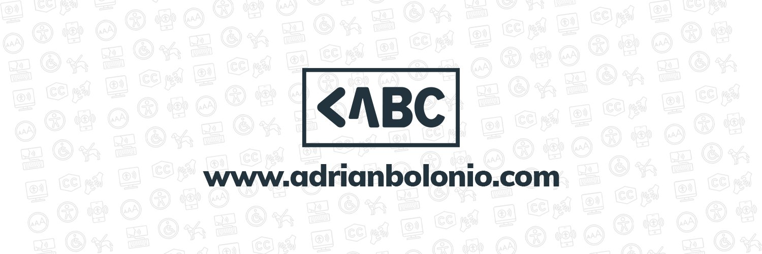 A banner with my logo and the url of my website: www.adrianbolonio.com