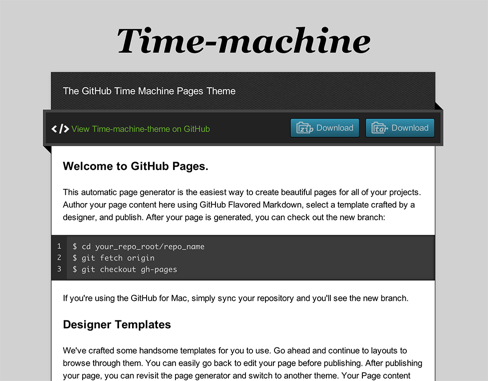 Time Machine theme