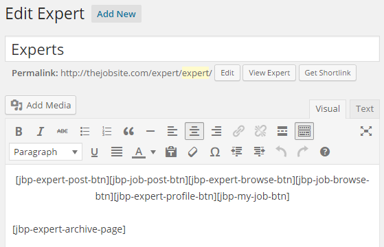 Jobs and Experts - Experts Listings virtual page