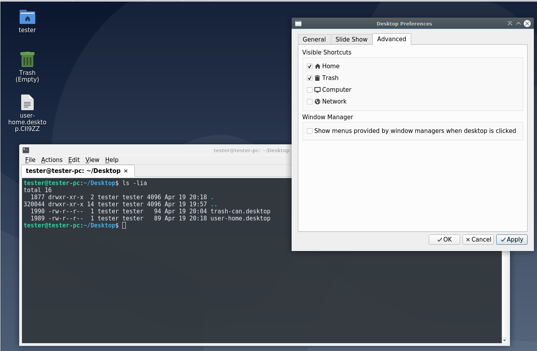 non-existent temporary desktop file appears on desktop
