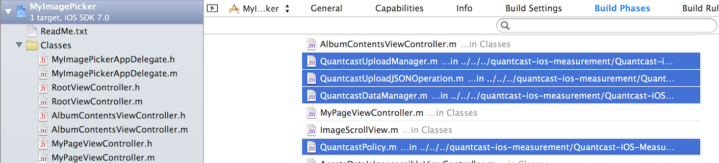 Screenshot - Multi-select Quantcast Files