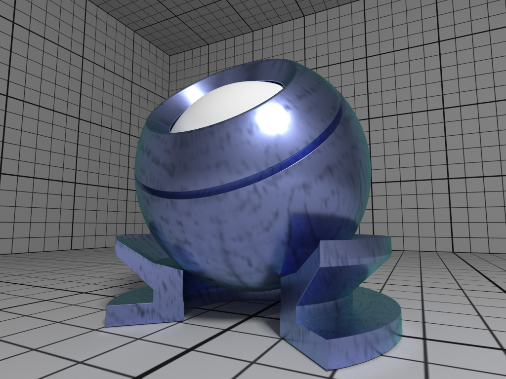 Rendering of a fictional Alloy material with textured color.