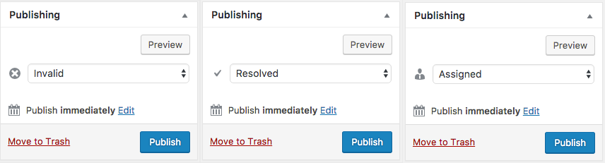 Custom statuses in the Publishing Metabox