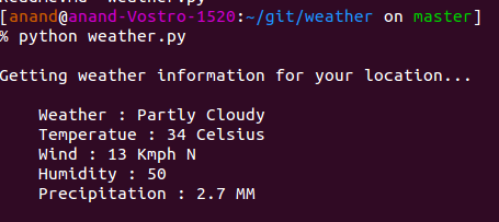 Weather-on-Terminal