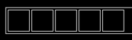 five black squares