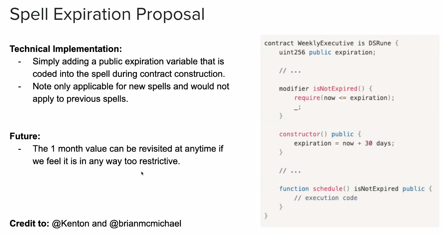 Spell Expiration Technical Implementation