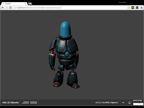 Blender XML3D Export