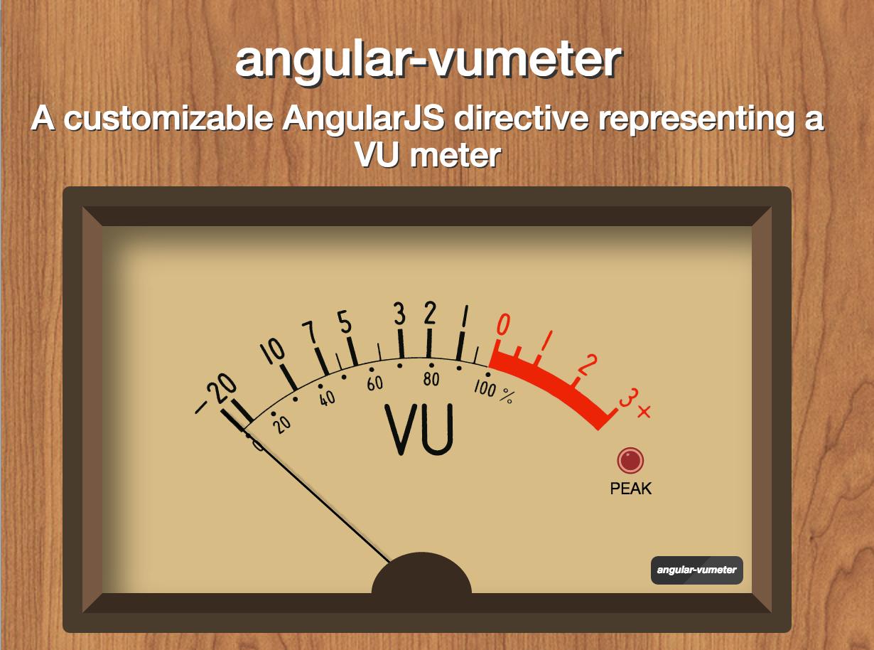 Github Matteovinci Angular Vumeter A Customizable Angularjs How To Build Vu Meter 2 Quick Links