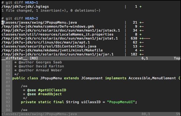DiffStat Screenshot