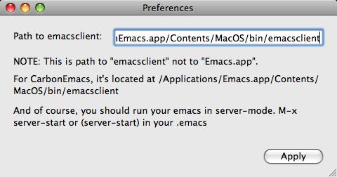 EmacsHandler Preferences