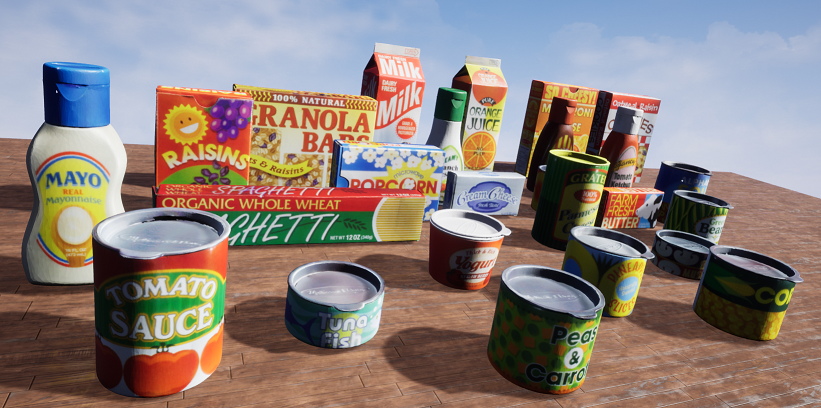 HOPE 3D models rendered in UE4