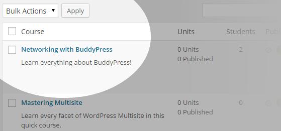 CoursePress - Courses - Bulk Actions