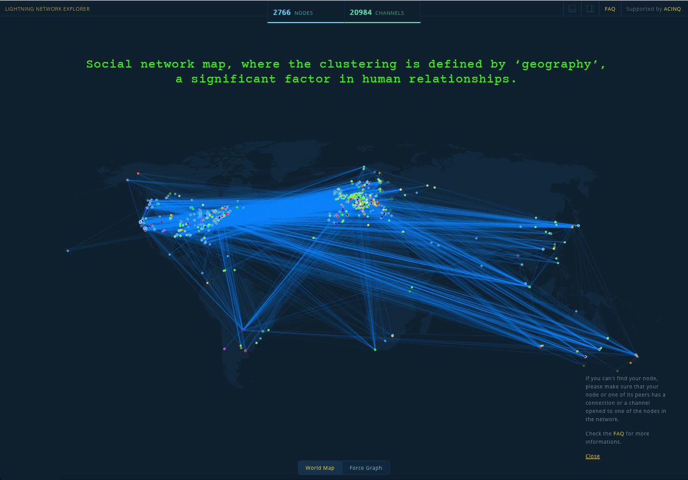 social network map determined by geography