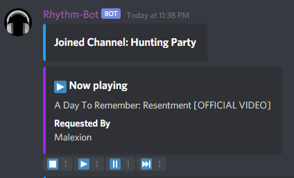 Github Malexion Rhythm Bot Queue Up And Play Youtube Audio Over