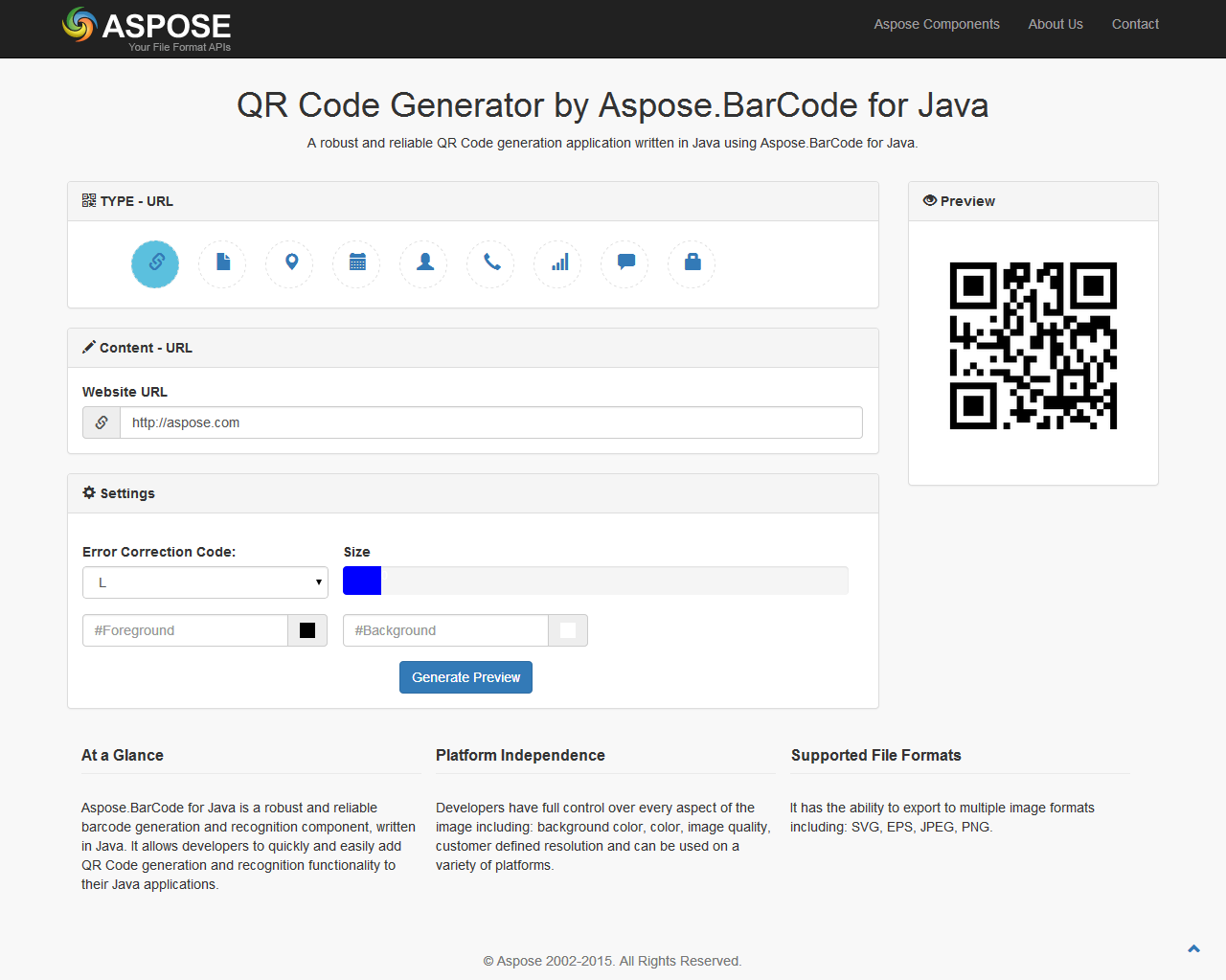 GitHub - AsposeShowcase/QR_Code_Generator_by_Aspose BarCode_for_Java