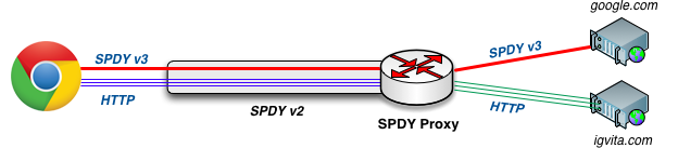 SPDY Proxy Diagram