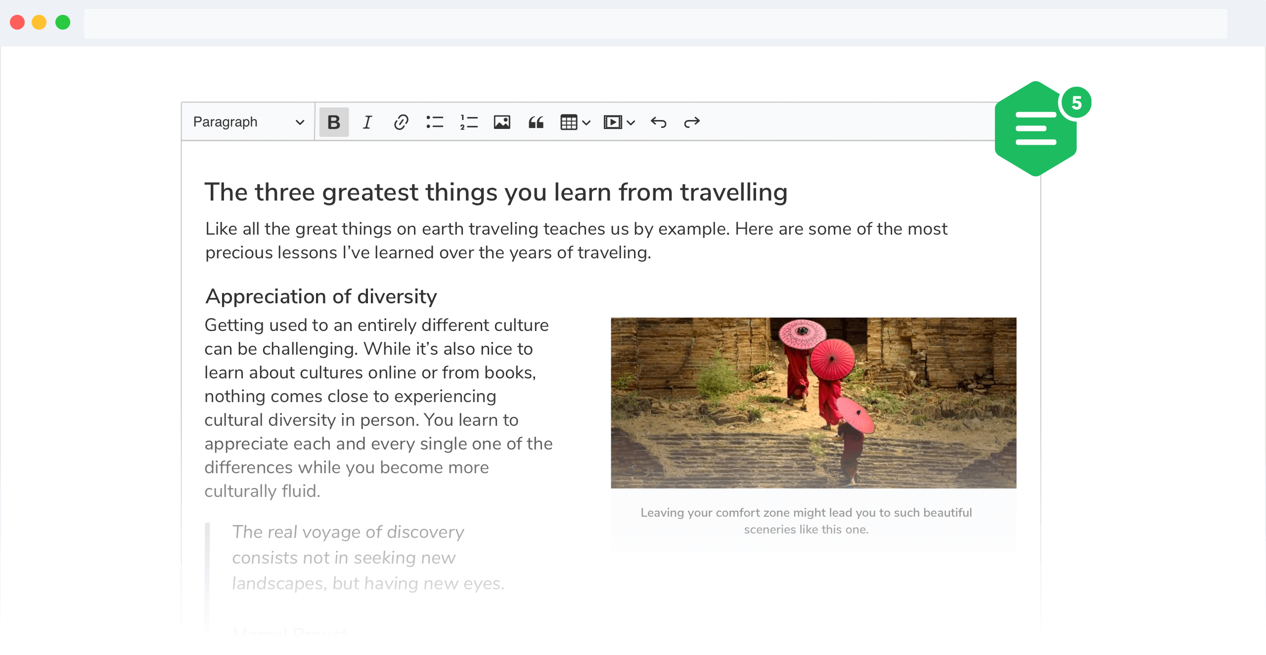 CKEditor 5 Classic rich text editor build screenshot