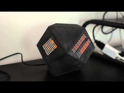 Dodecahedron Clock