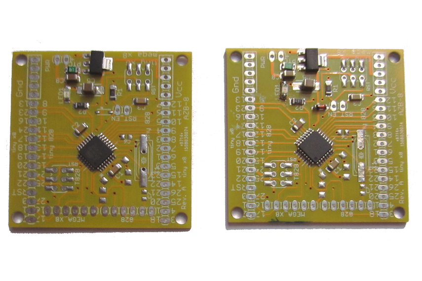 Picture of ATTiny828 boards