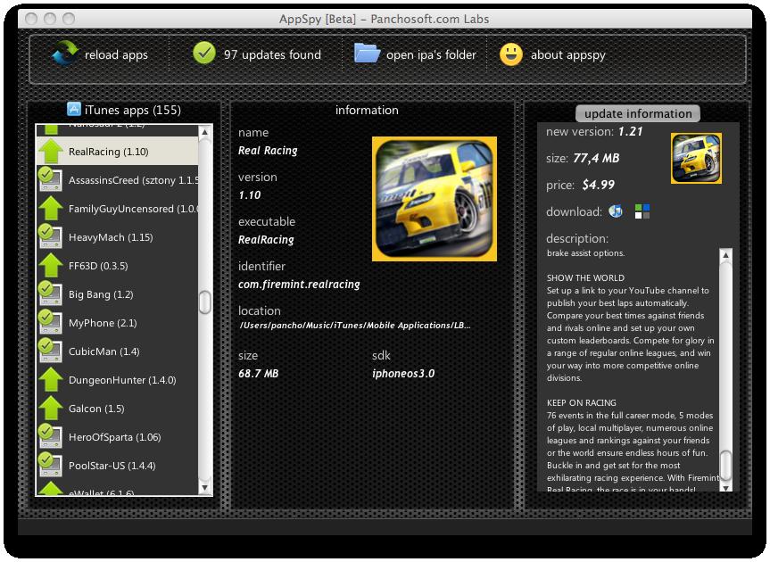 AppSpy on Mac OS X - Snow Leopard