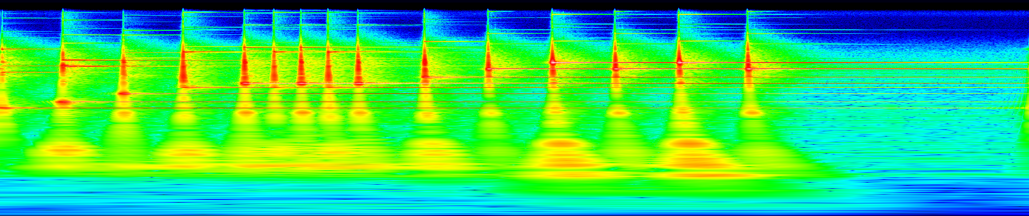 Glockenspiel spectrogram, phon scaled