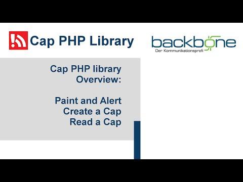CAP PHP Library Youtube video