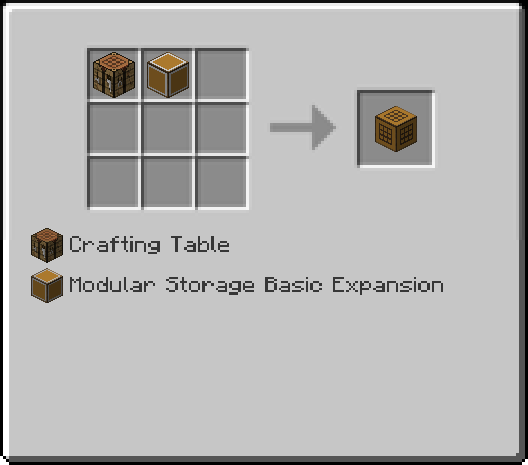 Crafting Expansion Recipe
