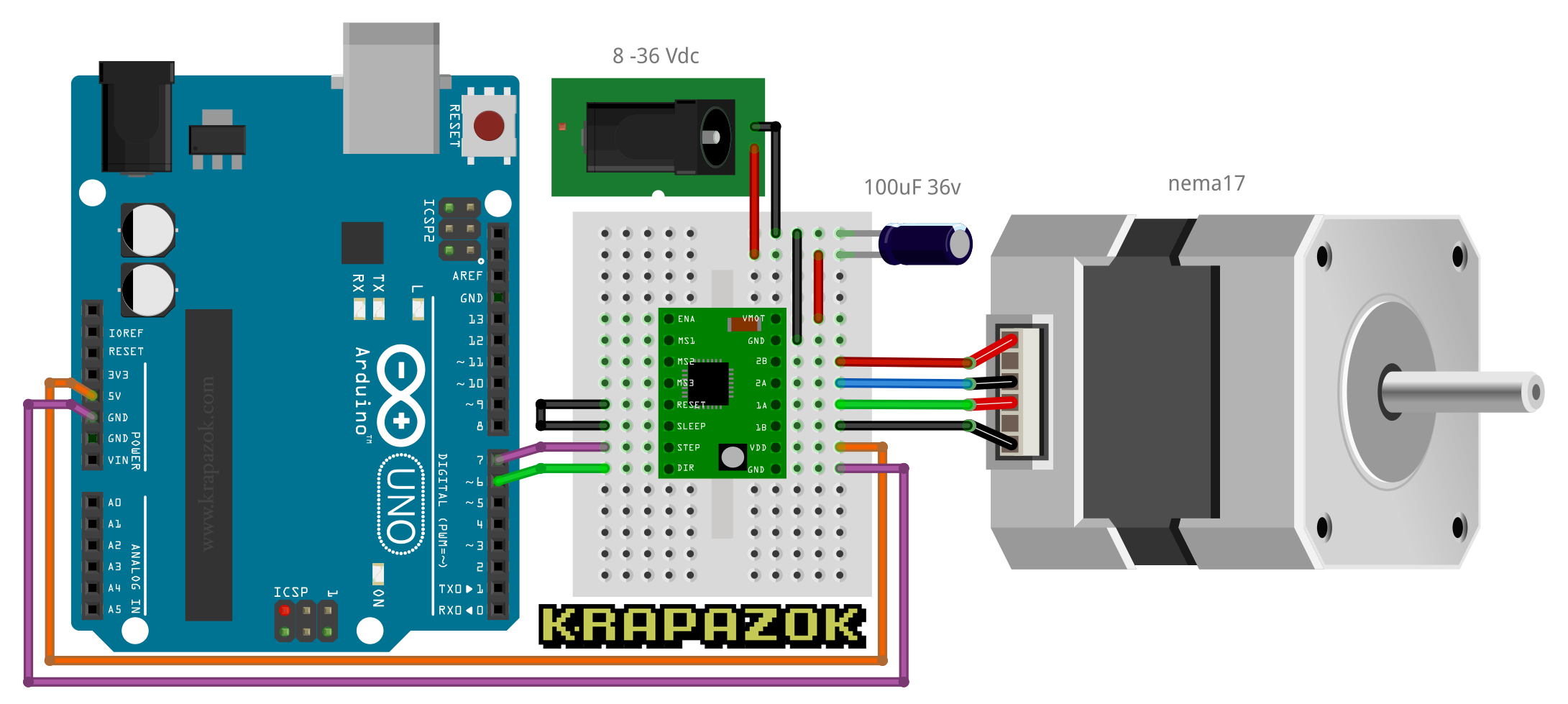 Nema 23 Stepper Motor Wiring Diagram Arduino Diy Enthusiasts Diagrams Nema17 And Drv8825 R2d2 2017 Wiki Github Rh Com Configuration For Linear Actuators With