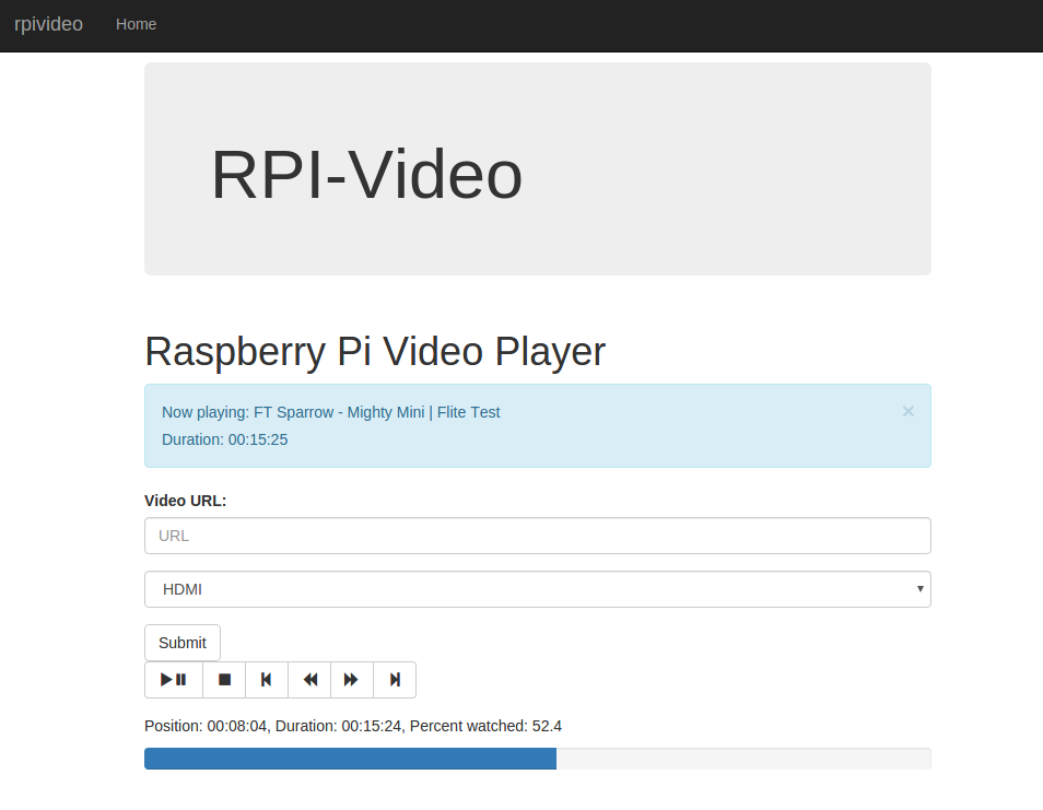 GitHub - mroote/rpivideo: Web interface to stream videos on