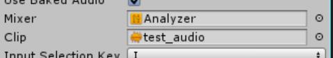 audio analyzer mixer property