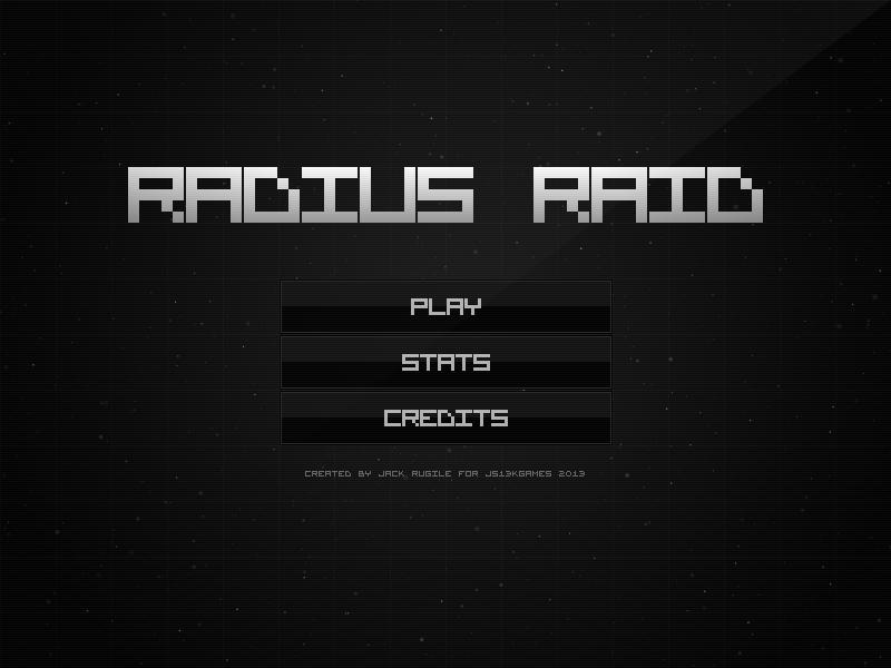 Radius Raid Menu