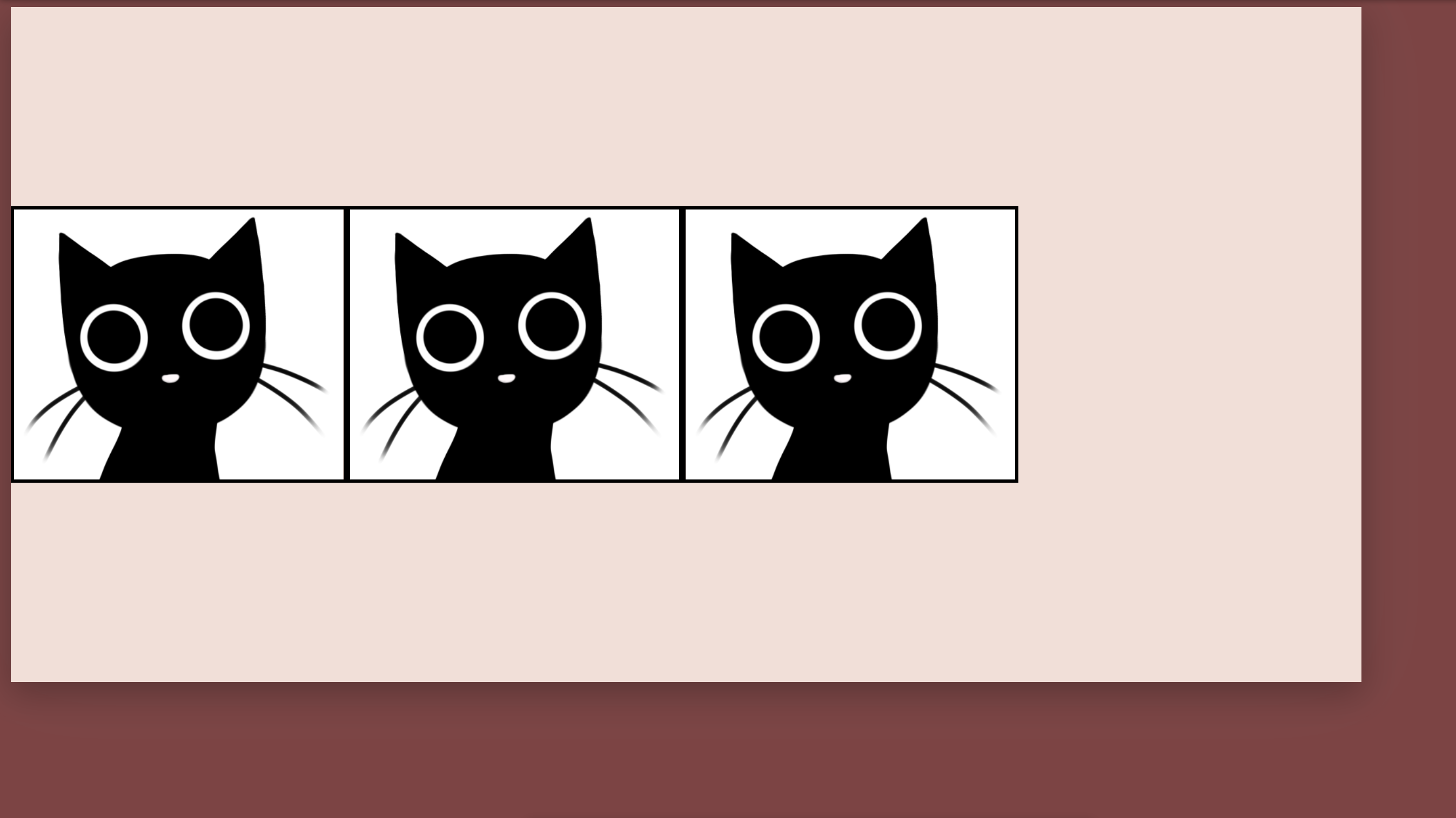 Cats that are aligned centrally on the y-axis