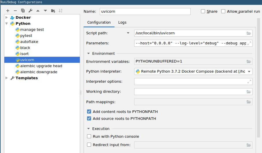 FastAPI debugging · Issue #23 · tiangolo/fastapi · GitHub