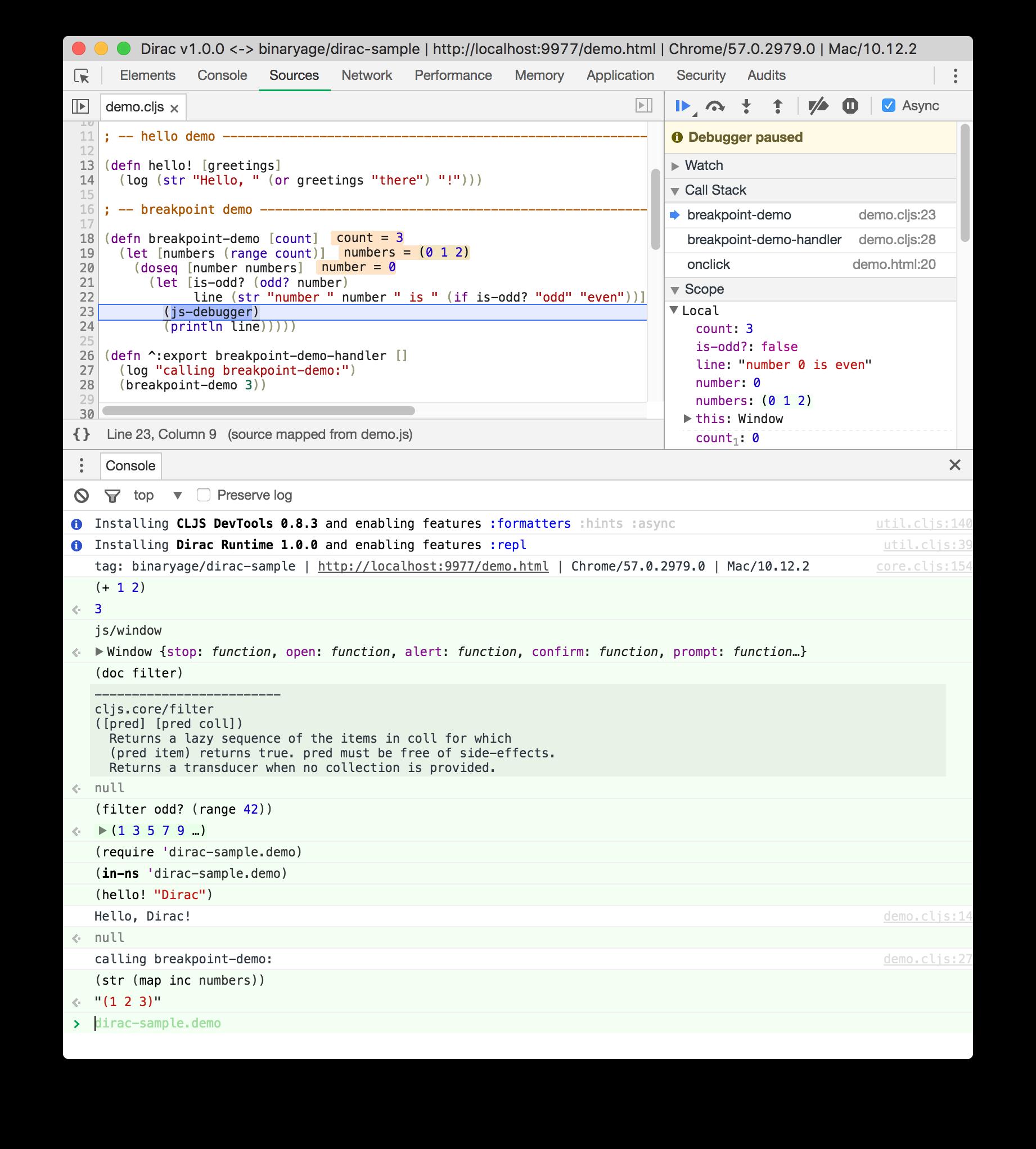ClojureScript REPL