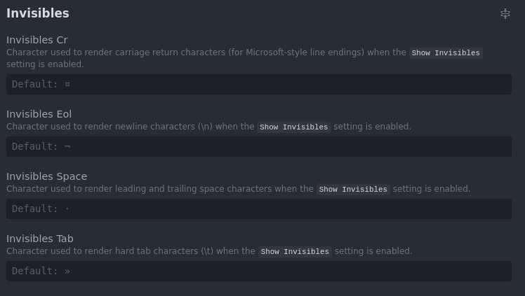 Display invisible character · Issue #58252 · microsoft/vscode · GitHub