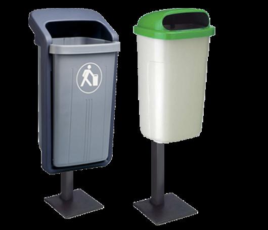 post mounted bin