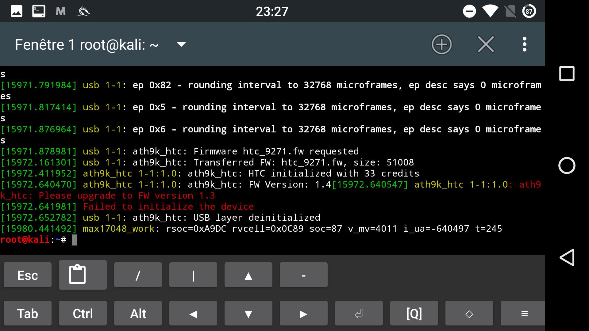 TL-WN722N v1 (AR9271) not working (nexus 5, LineageOS 14 1