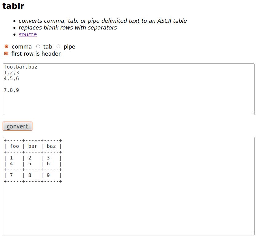 Screenshot of tablr